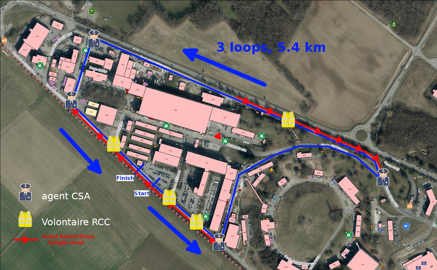 Road Race Route